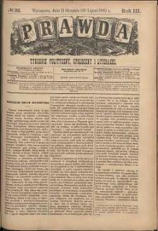 Prawda : tygodnik polityczny, społeczny i literacki, 1883, R. 3, nr 32