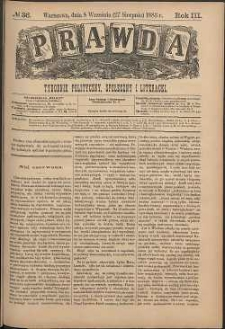 Prawda : tygodnik polityczny, społeczny i literacki, 1883, R. 3, nr 36