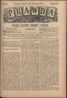Prawda : tygodnik polityczny, społeczny i literacki, 1883, R. 3, nr 38