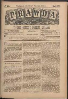 Prawda : tygodnik polityczny, społeczny i literacki, 1883, R. 3, nr 39