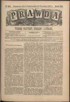 Prawda : tygodnik polityczny, społeczny i literacki, 1883, R. 3, nr 40
