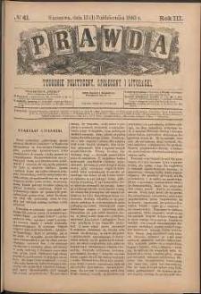 Prawda : tygodnik polityczny, społeczny i literacki, 1883, R. 3, nr 41