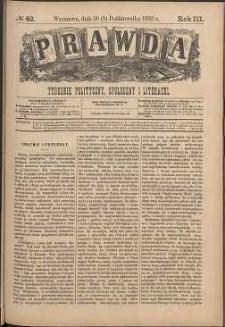 Prawda : tygodnik polityczny, społeczny i literacki, 1883, R. 3, nr 42