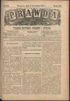 Prawda : tygodnik polityczny, społeczny i literacki, 1883, R. 3, nr 50