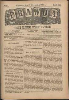 Prawda : tygodnik polityczny, społeczny i literacki, 1883, R. 3, nr 51