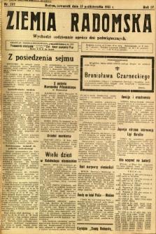 Ziemia Radomska, 1931, R. 4, nr 237