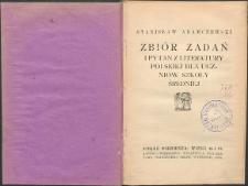 Zbiór zadań i pytań z literatury polskiej dla uczniów szkoły średniej. Cz. 1, wieki 16 i 17
