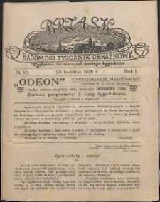 Brzask : Radomski Tygodnik Obrazkowy, 1916, R. 1, nr 16