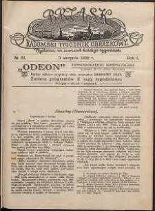 Brzask : Radomski Tygodnik Obrazkowy, 1916, R. 1, nr 31