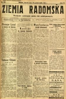 Ziemia Radomska, 1931, R. 4, nr 241