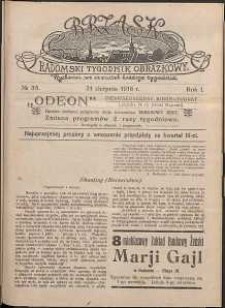 Brzask : Radomski Tygodnik Obrazkowy, 1916, R. 1, nr 35