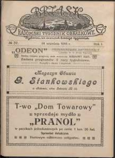 Brzask : Radomski Tygodnik Obrazkowy, 1916, R. 1, nr 37