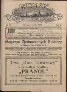 Brzask : Radomski Tygodnik Obrazkowy, 1916, R. 1, nr 43