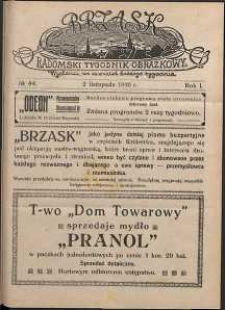 Brzask : Radomski Tygodnik Obrazkowy, 1916, R. 1, nr 44