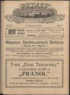 Brzask : Radomski Tygodnik Obrazkowy, 1916, R. 1, nr 45