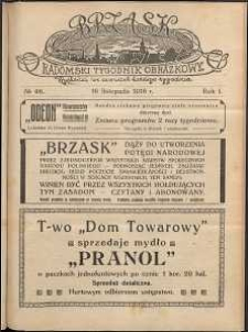 Brzask : Radomski Tygodnik Obrazkowy, 1916, R. 1, nr 46