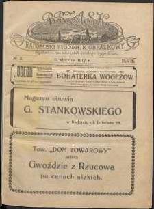 Brzask : Radomski Tygodnik Obrazkowy, 1917, R. 2, nr 2