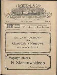 Brzask : Radomski Tygodnik Obrazkowy, 1917, R. 2, nr 7