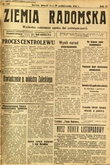 Ziemia Radomska, 1931, R. 4, nr 247