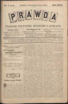 Prawda : tygodnik polityczny, społeczny i literacki, 1903, R. 23, nr 6