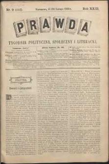 Prawda : tygodnik polityczny, społeczny i literacki, 1903, R. 23, nr 9