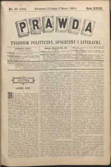 Prawda : tygodnik polityczny, społeczny i literacki, 1903, R. 23, nr 10