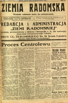 Ziemia Radomska, 1931, R. 4, nr 250