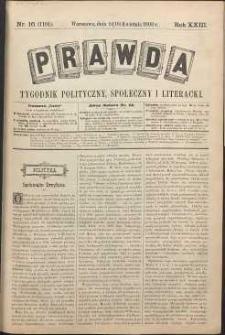 Prawda : tygodnik polityczny, społeczny i literacki, 1903, R. 23, nr 16
