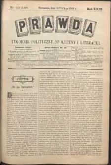 Prawda : tygodnik polityczny, społeczny i literacki, 1903, R. 23, nr 20