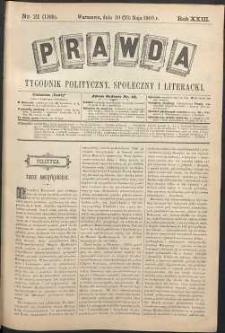 Prawda : tygodnik polityczny, społeczny i literacki, 1903, R. 23, nr 21