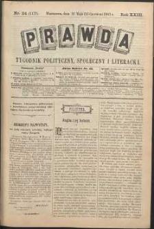 Prawda : tygodnik polityczny, społeczny i literacki, 1903, R. 23, nr 24