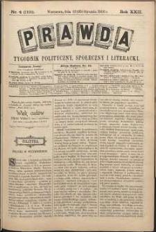 Prawda : tygodnik polityczny, społeczny i literacki, 1902, R. 22, nr 4