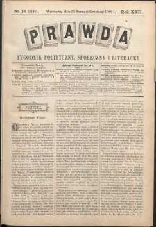 Prawda : tygodnik polityczny, społeczny i literacki, 1902, R. 22, nr 14