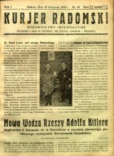 Kurier Radomski, 1939, R. 1, nr 14