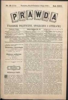 Prawda : tygodnik polityczny, społeczny i literacki, 1902, R. 22, nr 18