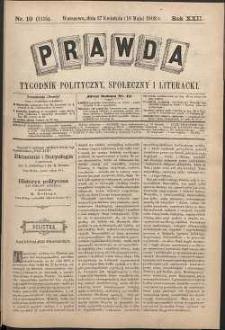 Prawda : tygodnik polityczny, społeczny i literacki, 1902, R. 22, nr 19