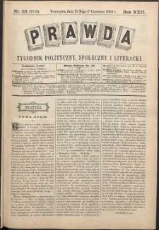 Prawda : tygodnik polityczny, społeczny i literacki, 1902, R. 22, nr 23