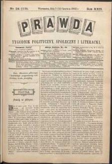 Prawda : tygodnik polityczny, społeczny i literacki, 1902, R. 22, nr 24