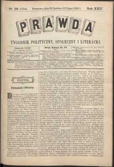 Prawda : tygodnik polityczny, społeczny i literacki, 1902, R. 22, nr 28