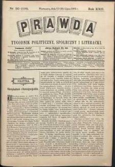 Prawda : tygodnik polityczny, społeczny i literacki, 1902, R. 22, nr 30