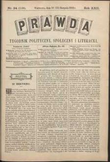 Prawda : tygodnik polityczny, społeczny i literacki, 1902, R. 22, nr 34