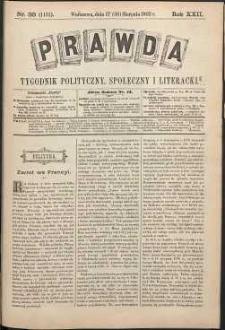 Prawda : tygodnik polityczny, społeczny i literacki, 1902, R. 22, nr 35