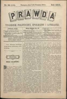 Prawda : tygodnik polityczny, społeczny i literacki, 1902, R. 22, nr 38