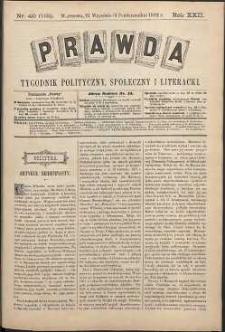 Prawda : tygodnik polityczny, społeczny i literacki, 1902, R. 22, nr 40