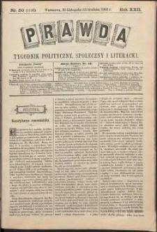 Prawda : tygodnik polityczny, społeczny i literacki, 1902, R. 22, nr 50