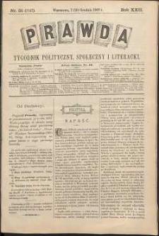 Prawda : tygodnik polityczny, społeczny i literacki, 1902, R. 22, nr 51