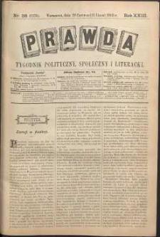 Prawda : tygodnik polityczny, społeczny i literacki, 1903, R. 23, nr 28
