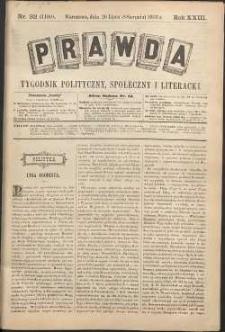 Prawda : tygodnik polityczny, społeczny i literacki, 1903, R. 23, nr 32