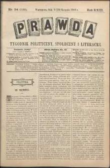 Prawda : tygodnik polityczny, społeczny i literacki, 1903, R. 23, nr 34