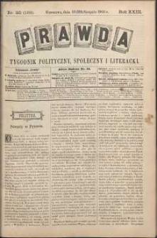 Prawda : tygodnik polityczny, społeczny i literacki, 1903, R. 23, nr 35